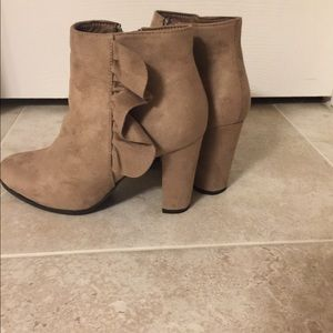 Bella Marie taupe boots (without box)